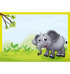 An elephant playing in the field vector image vector image