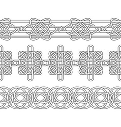 Celtic patterns set vector image vector image