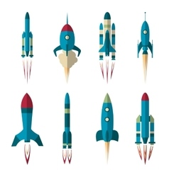 Set of rockets vector image