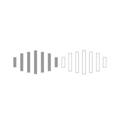 digital signal grey set icon vector image vector image