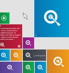 target icon sign buttons Modern interface website vector image