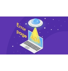 404 error page template for website vector image