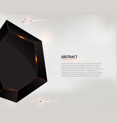 Abstract black geometric shape background vector