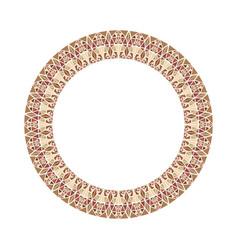 Abstract mosaic wreath - round circular design vector