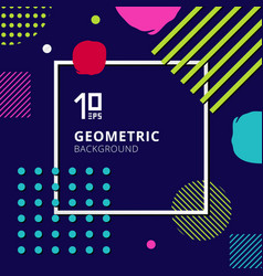abstract trendy colorful geometric pattern design vector image