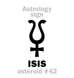 Astrology asteroid isis vector