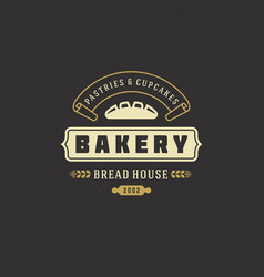 Bakery badge or label retro vector