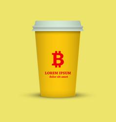 Bitcoin coffee vector