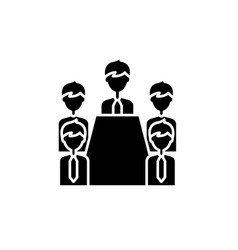 board of directors black icon sign on vector image