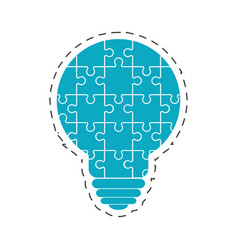 Bulb puzzle solution image vector