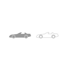 car grey set icon vector image