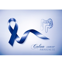 Colon cancer awareness ribbon vector