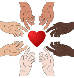 concept charity and donation hands give love vector image