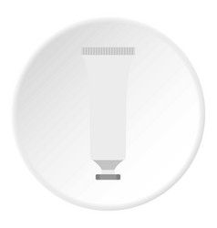 Cosmetic tube icon circle vector