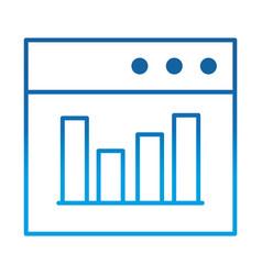 Data analysis website diagram finance vector