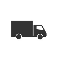 delivery truck icon flat vector image