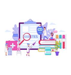 Diabetes clinical treatment concept vector