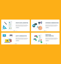 Digital marketing and safety communication vector