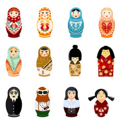 Doll matryoshka matrioshka russian toy vector