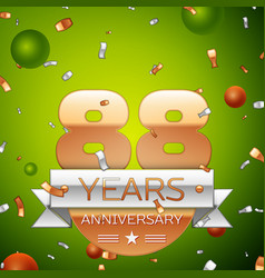 eighty eight years anniversary celebration design vector image