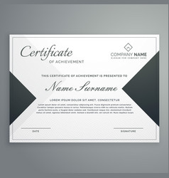 Elegant certificate design or diploma template vector