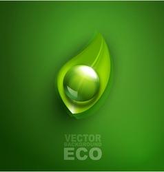 element for ecological design vector image