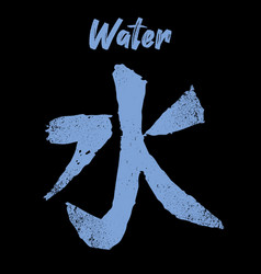 Feng shui chinese element water grunge texture vector