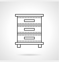 file cabinet flat line icon vector image