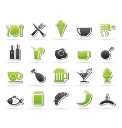 Food drink and restaurant icons vector image vector image