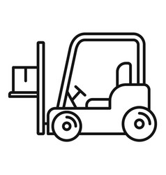 Forklift icon outline style vector