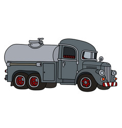 funny old gray tank truck vector image