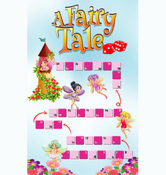 Game template with fairy tale theme background vector