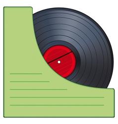 Gramophone disk vector image