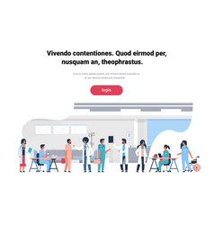 group doctors hospital communication making vector image
