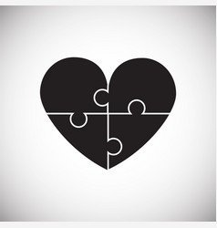 heart puzzle on white background vector image