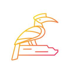 Hornbill gradient linear icon vector
