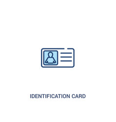 identification card with picture concept 2 vector image