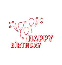 inscription happy birthday vector image