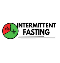 Intermittent fasting sign vector