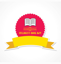 International childrens book day poster vector