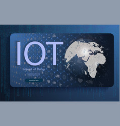 internet of things iot and networking vector image