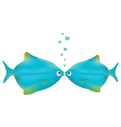 Kissing Fishes vector image