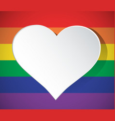 lgbt heart shaped rainbow icon isolated vector image
