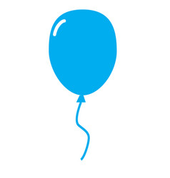 Line balloon icon balloon icon picture on white vector