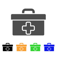 medical tools box flat icon vector image