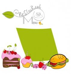 menu template vector image