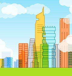 Modern city Lineart concept vector image