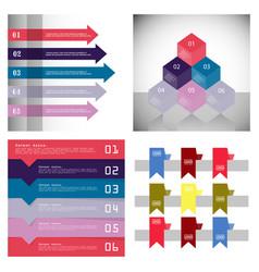 Modern strips infographics 10 options banner for vector