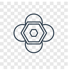 molecule concept linear icon isolated on vector image