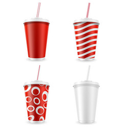 Paper cup for soda stock vector